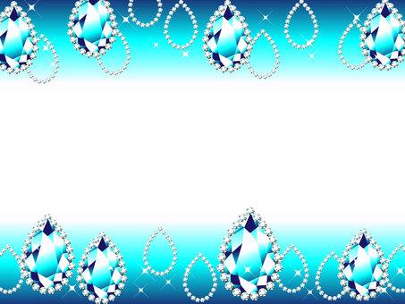 물방울 형태 보석 프레임