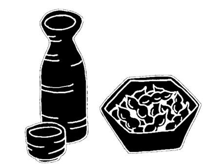 Sake and knob silhouette