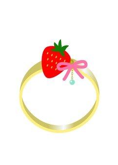 Strawberry motif ring