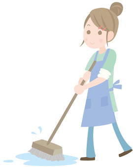 Girls to clean