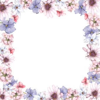 상쾌한 봄 꽃 프레임 - 프레임
