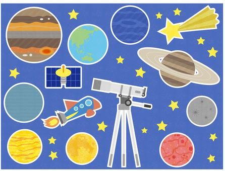 Astronomical observation_planet_illustration of shooting stars