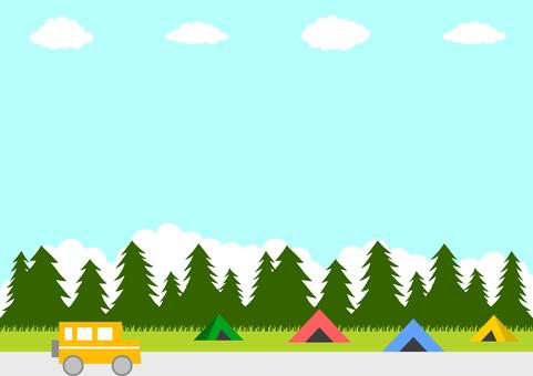 Camping car landscape