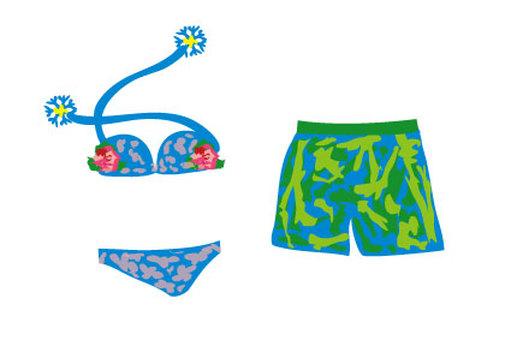Bikini and seawater pants swimwear