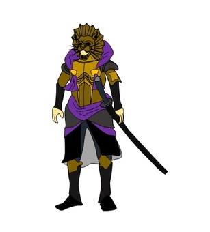 Samurai of Gold Lion armor