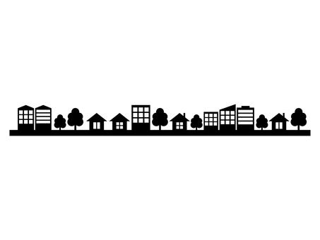 City street silhouette