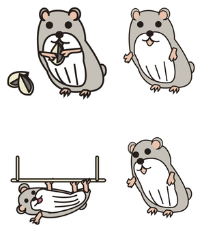 Hamster character illustration