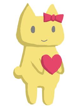 貓貓心臟黃色