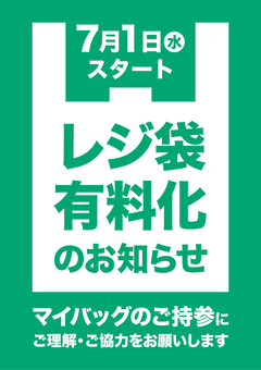 Shopping bag pay-per-store poster (vertical ver)