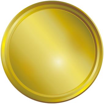 Golden Golden Gold Emblem Medal Icon