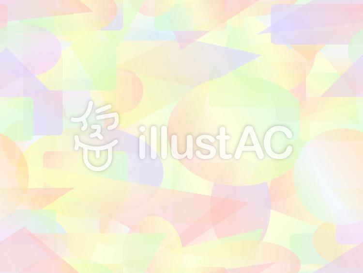 パステル調のカラフルな短形パターン1a
