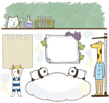 Animal school illustration color version