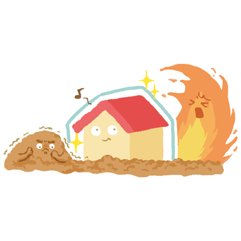 Disaster-resistant house