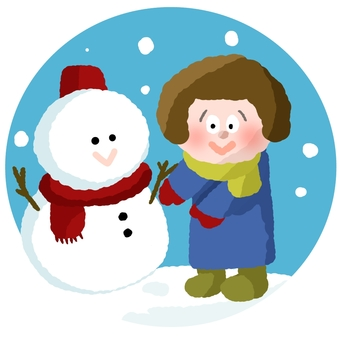 Snowman and girl ②