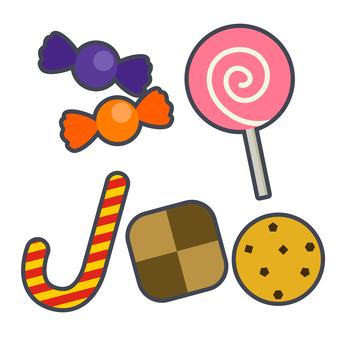 Halloween candy illustration set