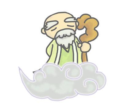 The god of a sennin (grandpa)