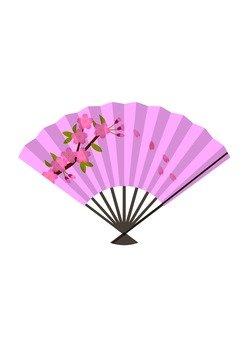 Folding fan (Sakura)