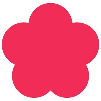 간단한 꽃 마크 레드 아이콘