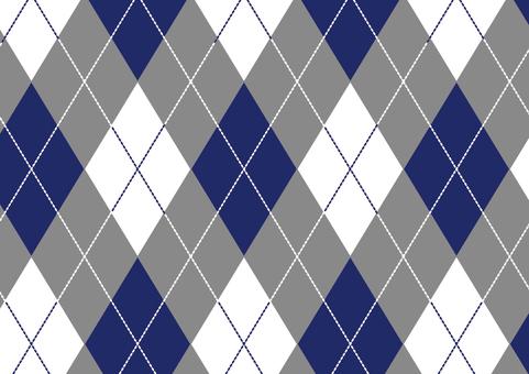 Argyle ● Blue × Gray