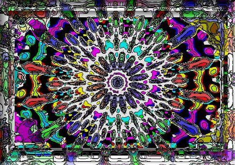 Abstract Wanhua mirror
