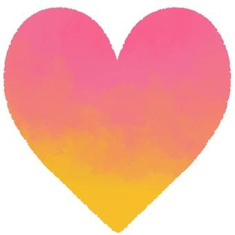 Watercolor gradient heart 1