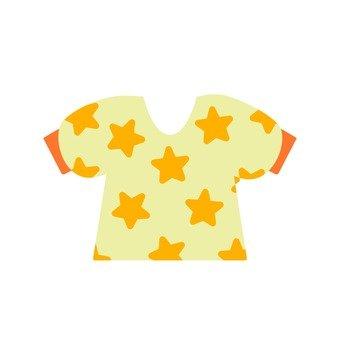 Star pattern puff sleeve T shirt