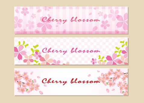 Sakura banner background 3 patterns