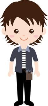 Character occupation uniform (male) beautician