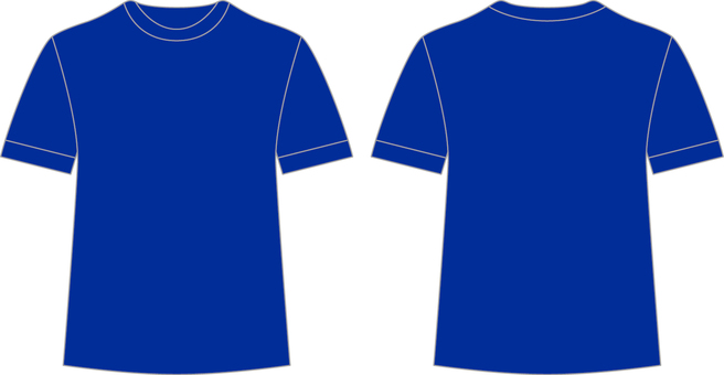 T-shirt _ front / back _ blue