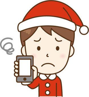 Santa's men showing a smartphone C