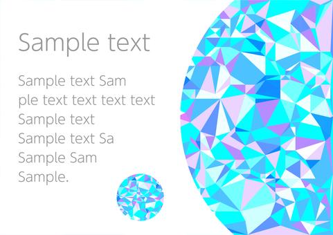 Light blue polygon vector frame background material
