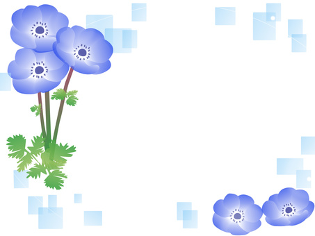 Anemone flower decorative frame