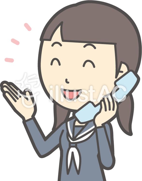中学生セーラー女性-310-バストのイラスト
