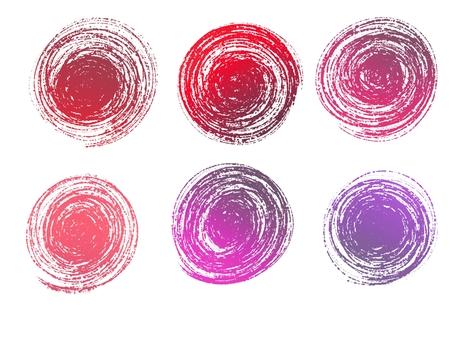 아이콘 원형 메탈릭 레드 핑크 퍼플