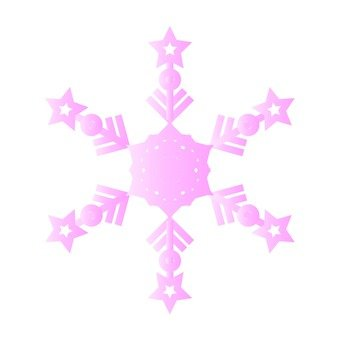 Snow crystal (pink)
