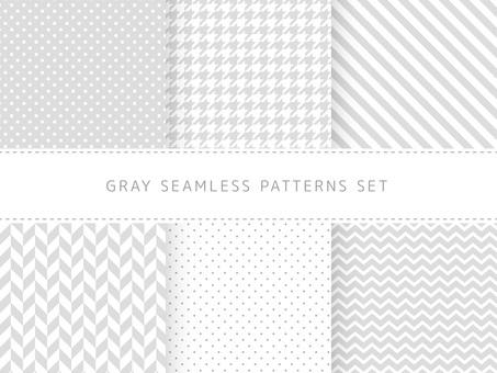 회색 원활한 패턴 세트