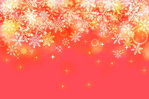 Snow background red
