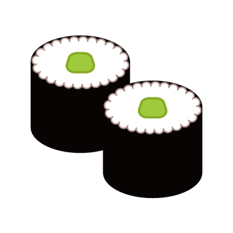 Sushi roll (rolled wrapped)