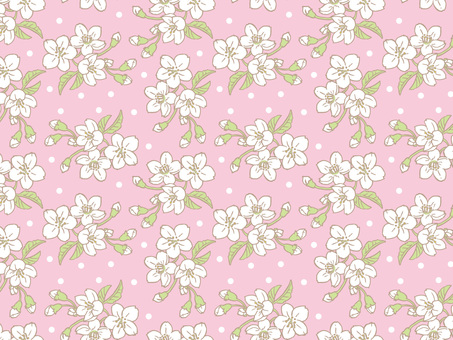 Spring cherry Tile pattern (repeat) C 01