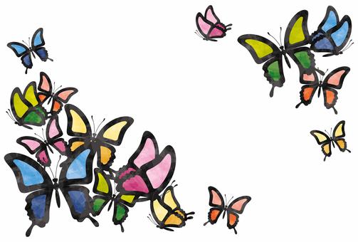 蝴蝶框架/彩色玻璃