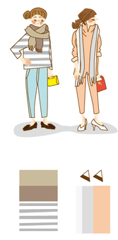 Fashionable woman 1: Simple stall