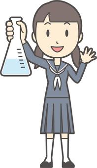 Junior high school sailor woman-204-whole body