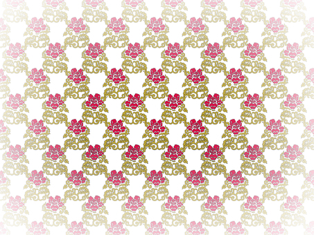 Rose pattern background on white background 4