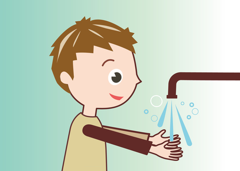 Hand washing boy
