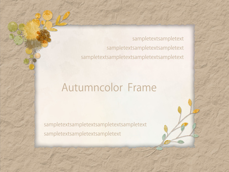 Autumn color frame ver 81