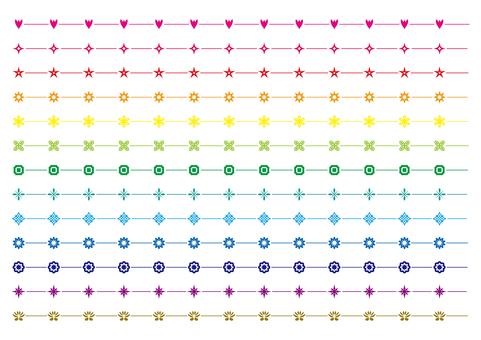20-line, decorative line set 4 dark color system