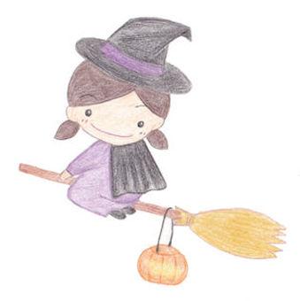 Halloween child witch