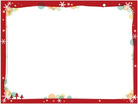 聖誕節框架紅色