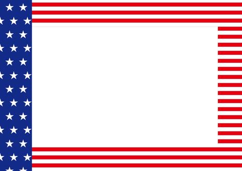 American flag-style frame