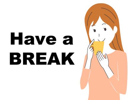 A girl to take a break